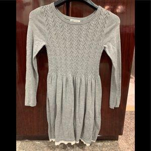 👧🏼 Girls H&M Gray Knit Sweater Dress size 8-10Y